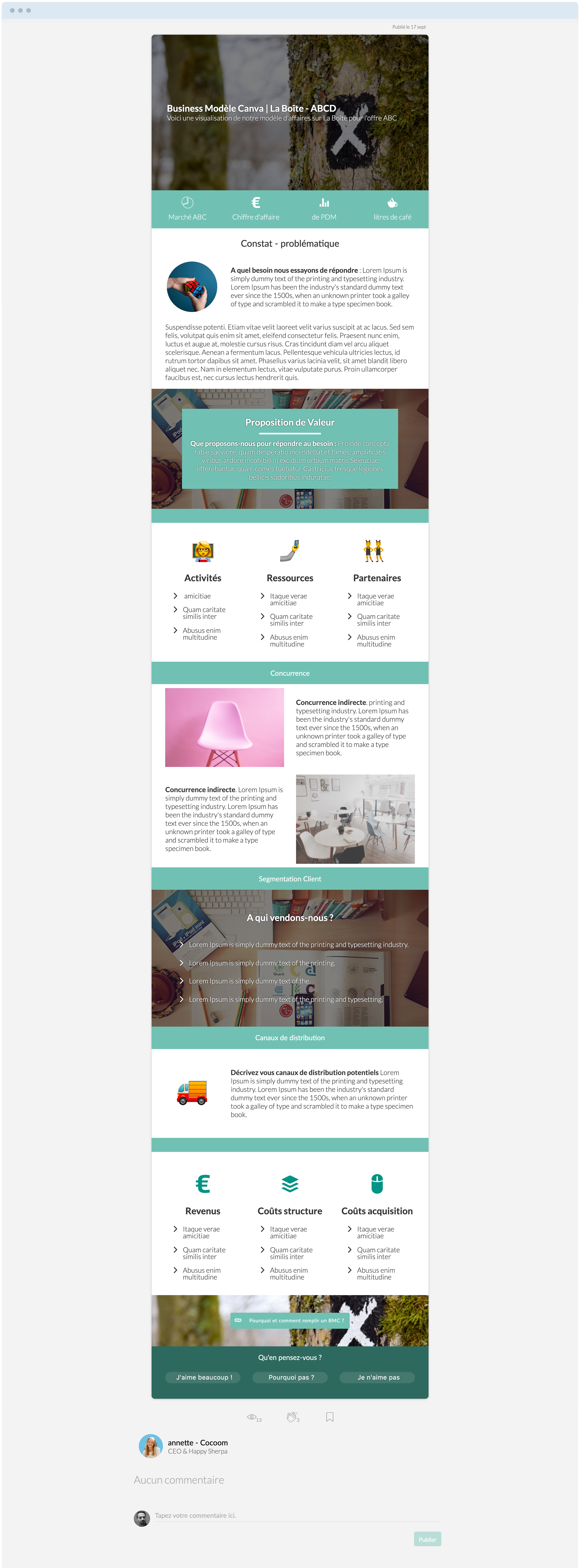 templates & templates write a business canvas