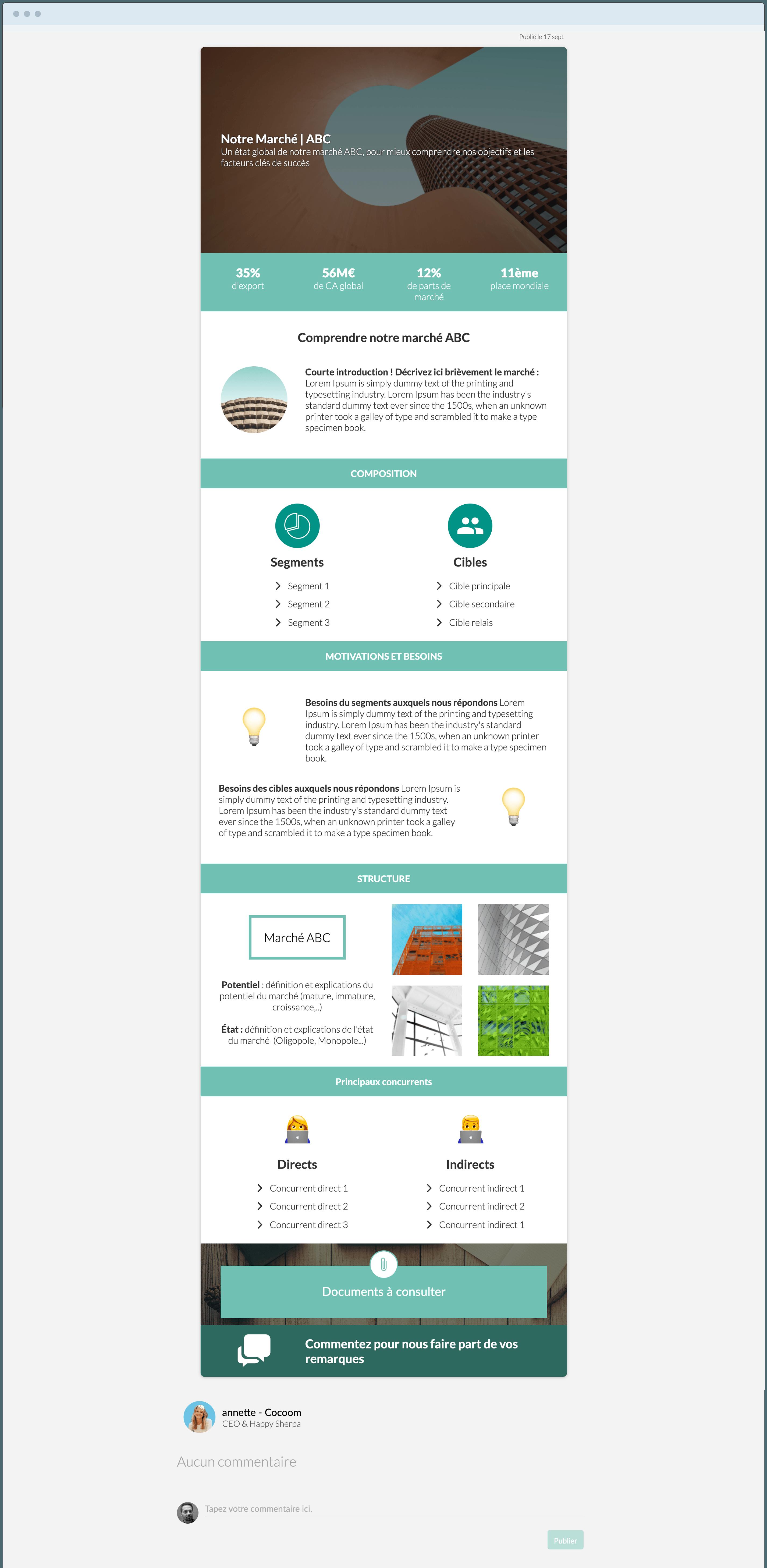 templates & modèles écrire une étude de marché