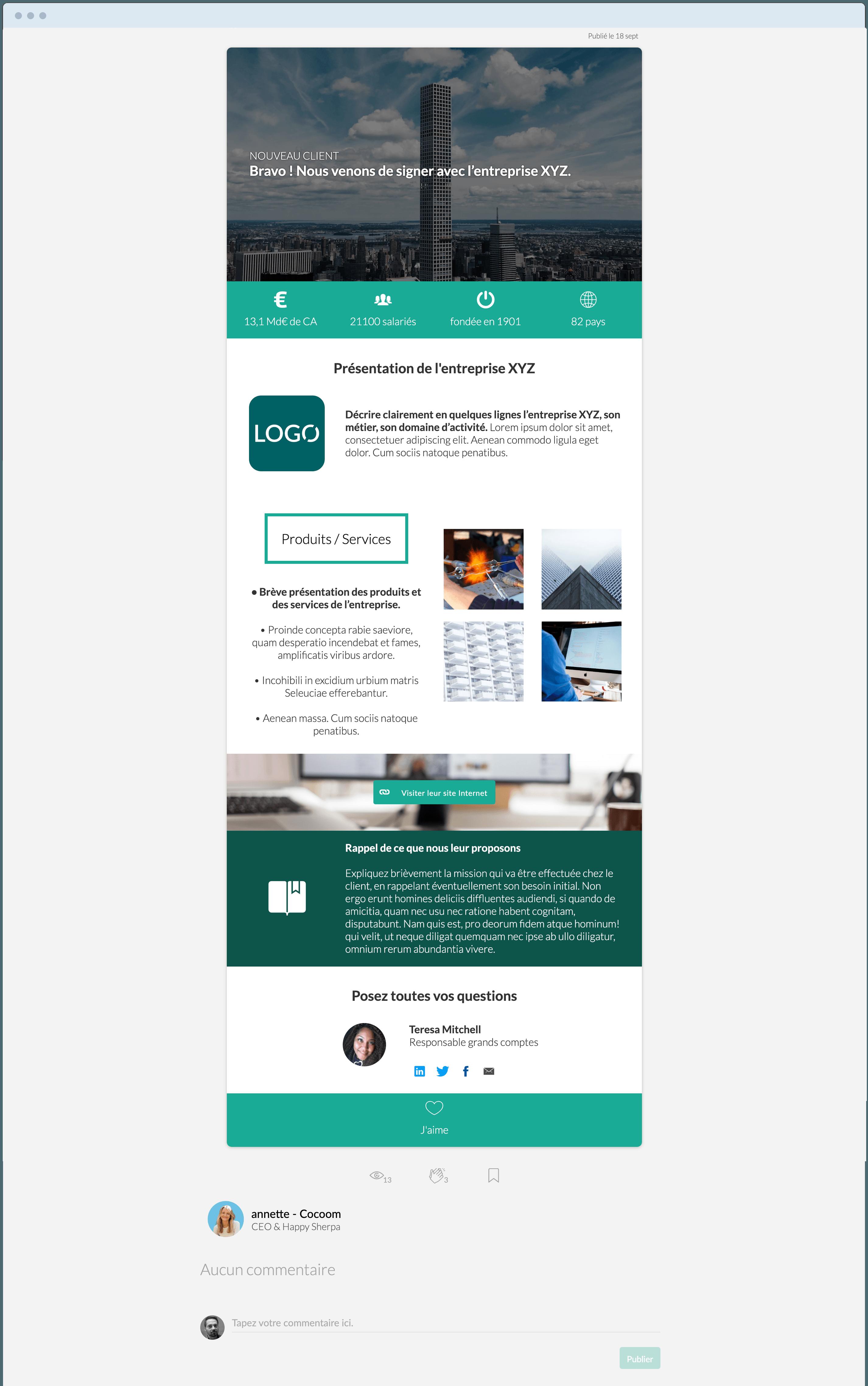 templates & modèles signature nouveau client