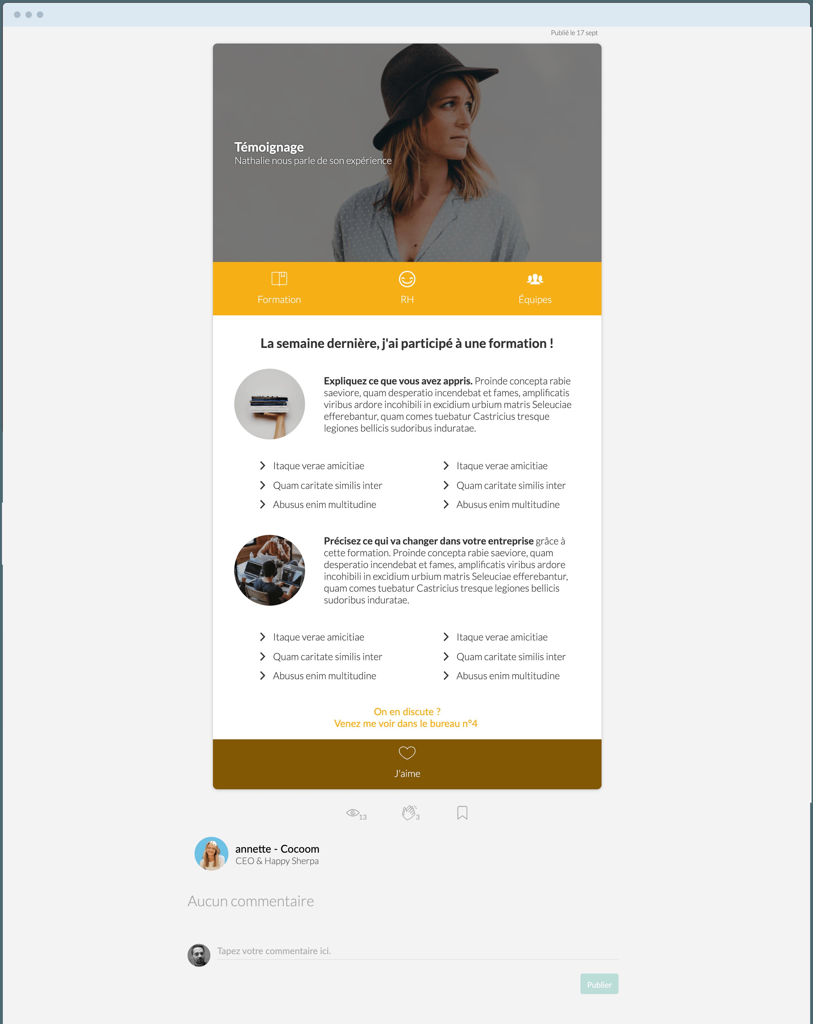 templates & modèles écrire un témoignage